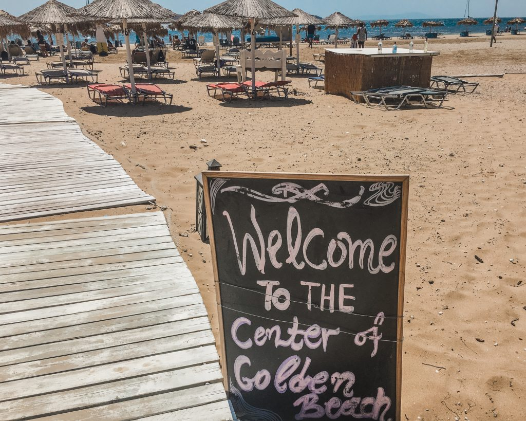 sign at golden beach