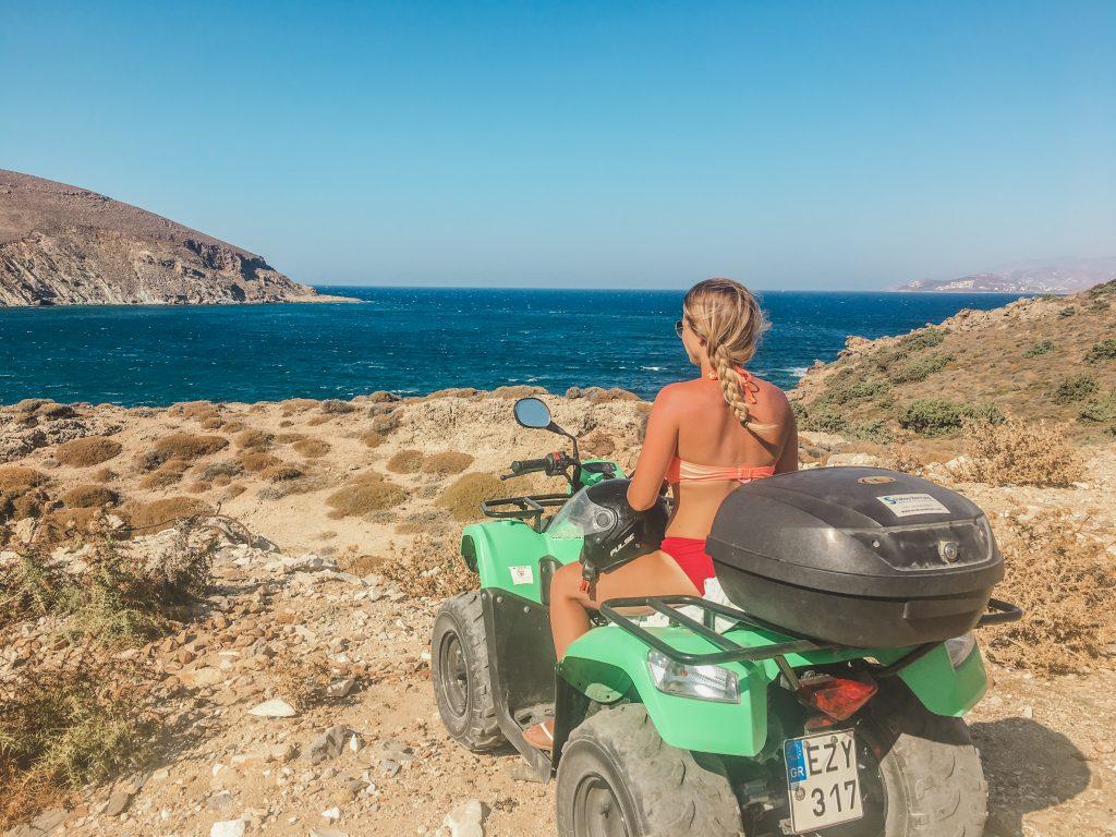 me on a fourwheeler on paros island