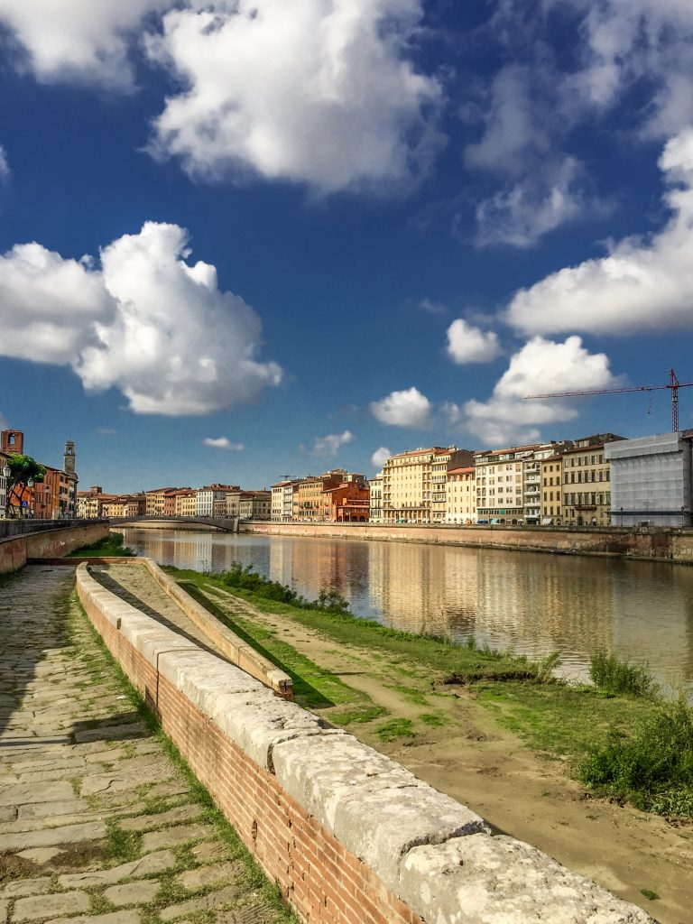 View from the Arno River in Pisa