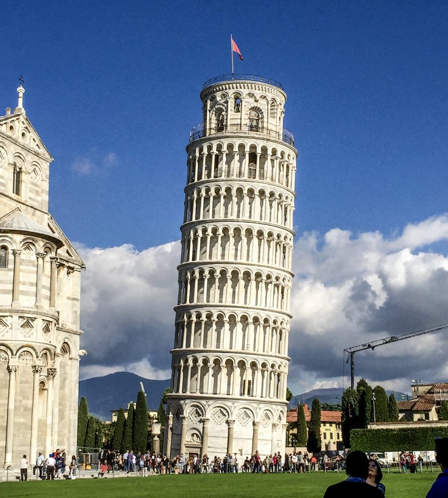 The Leaning Tower of Pisa from the West