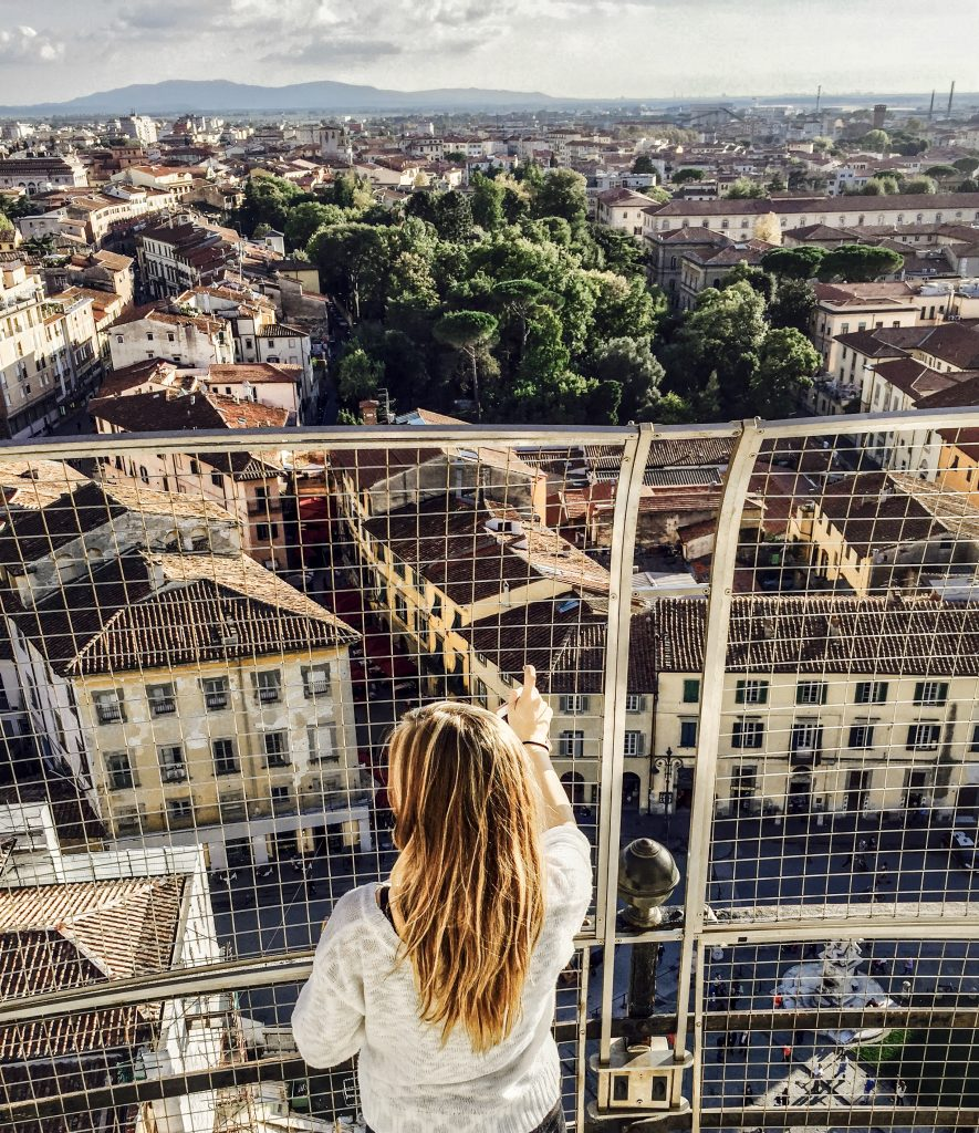 Me Looking Out over Pisa from the Top of the Leaning Tower