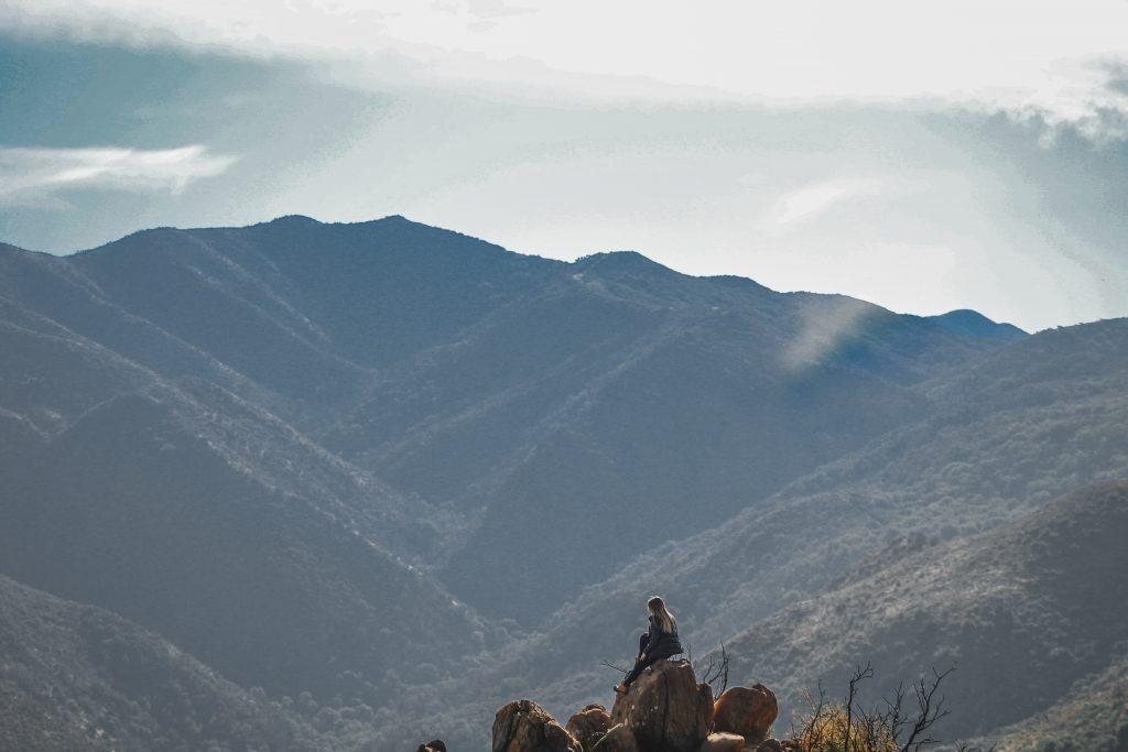 me sitting on a rock at sonoma mountain range