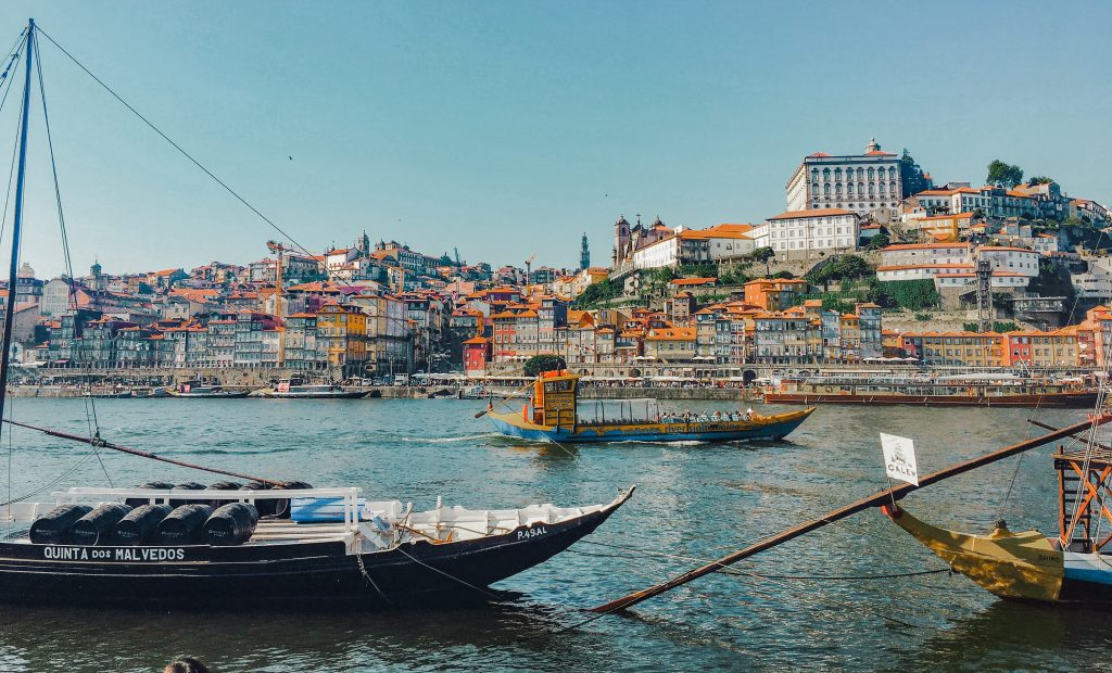 Looking across the duoro at porto