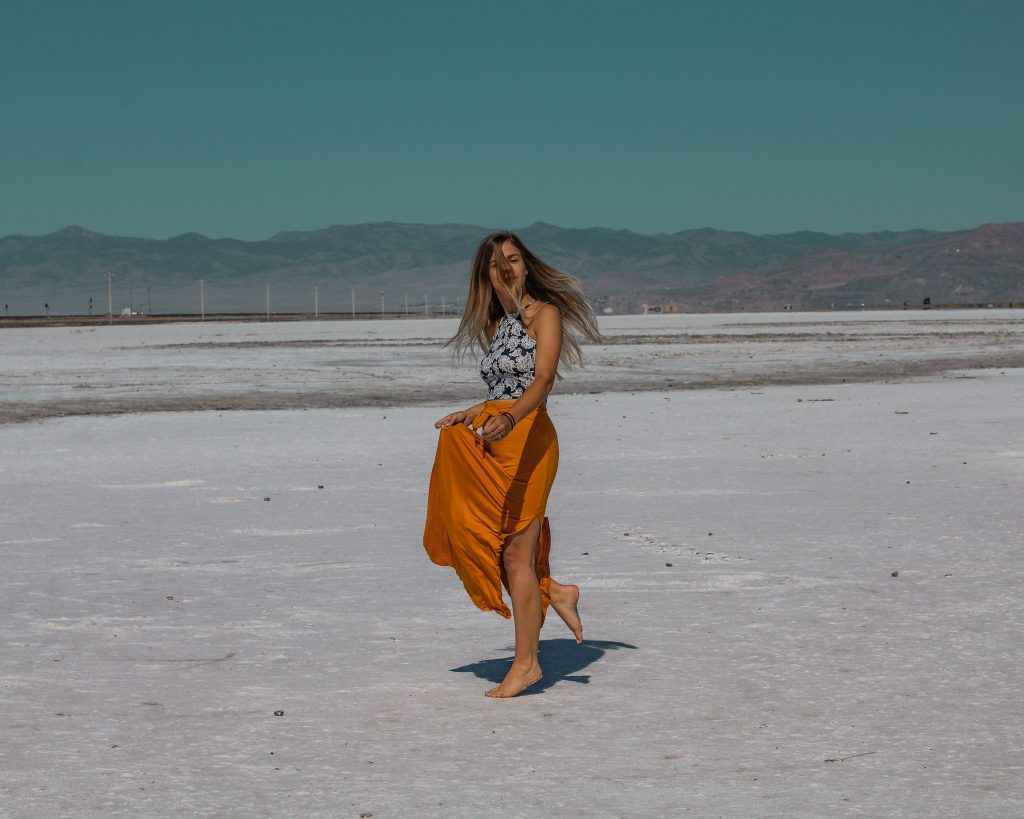 twirling at the salt flats