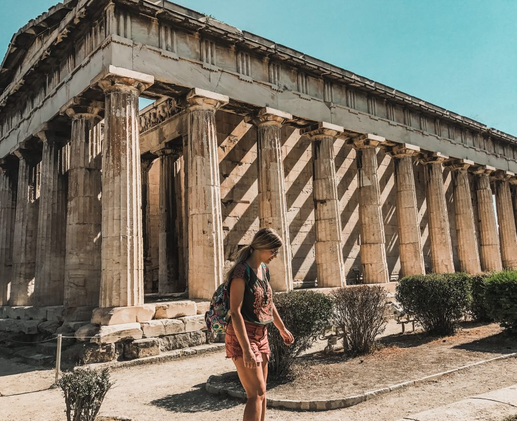 exploring the temples of athens