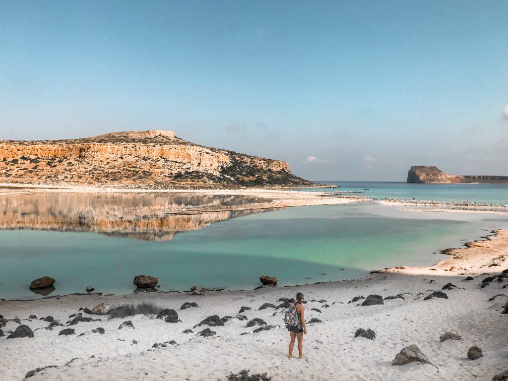 the Balos lagoon