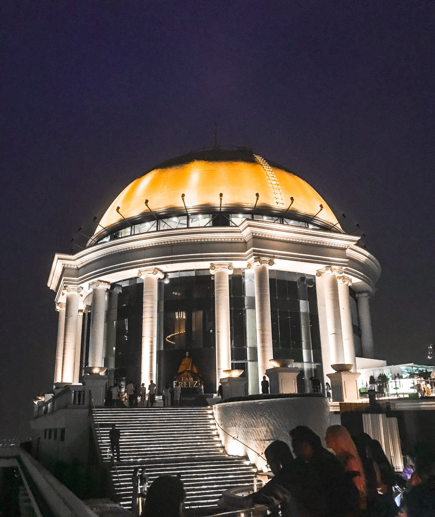 the golden dome at lebua