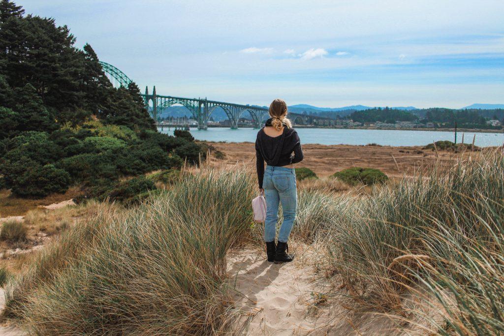 overlooking the yaquina bay bridge