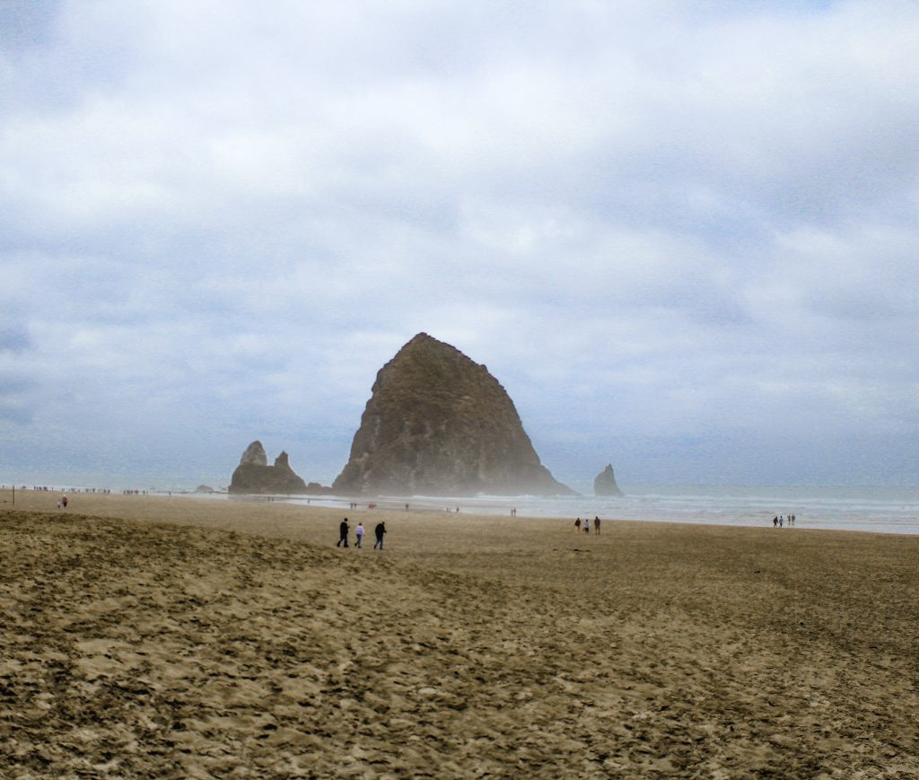 haystack rock out in the water