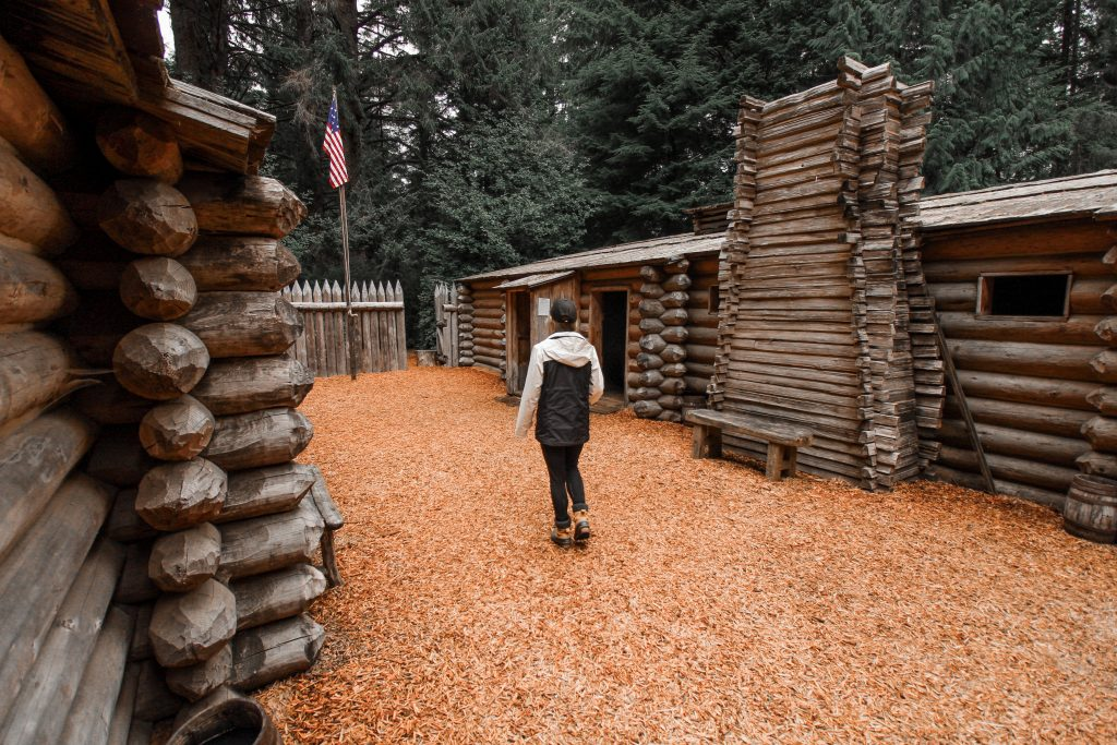 walking through lewis and clark national park