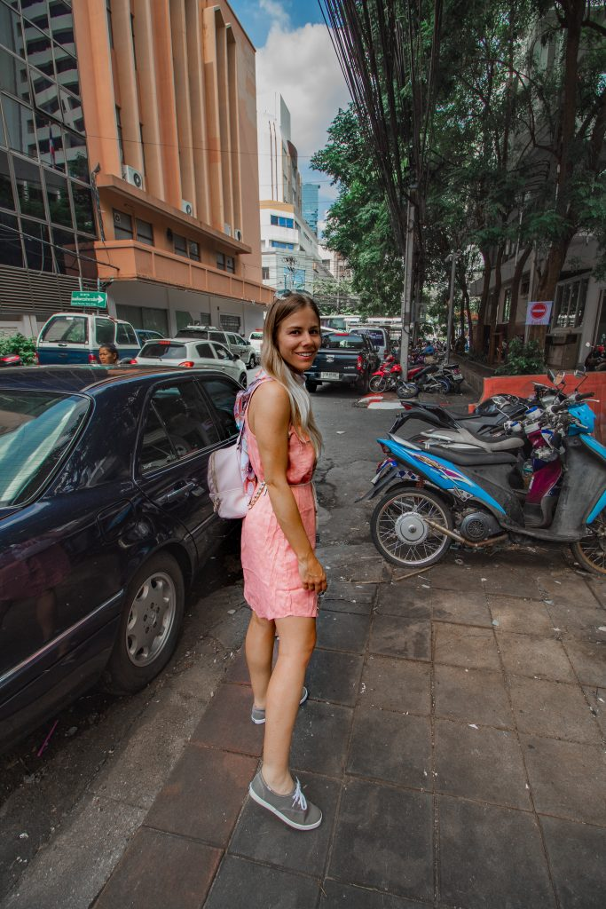 me walking the streets of bangkok