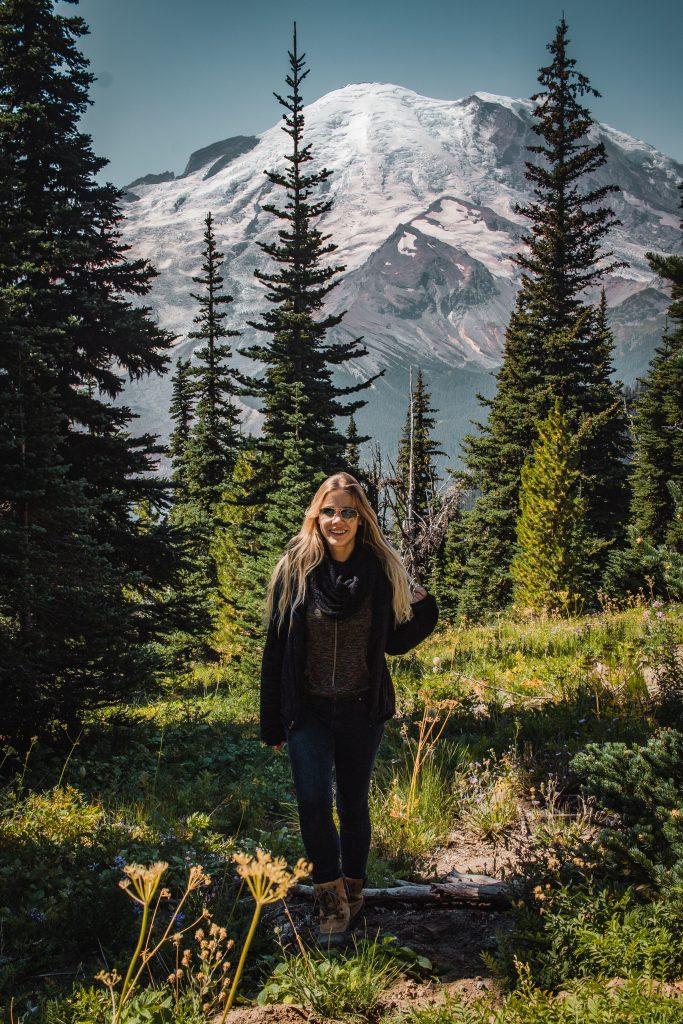 me in front of mount rainier