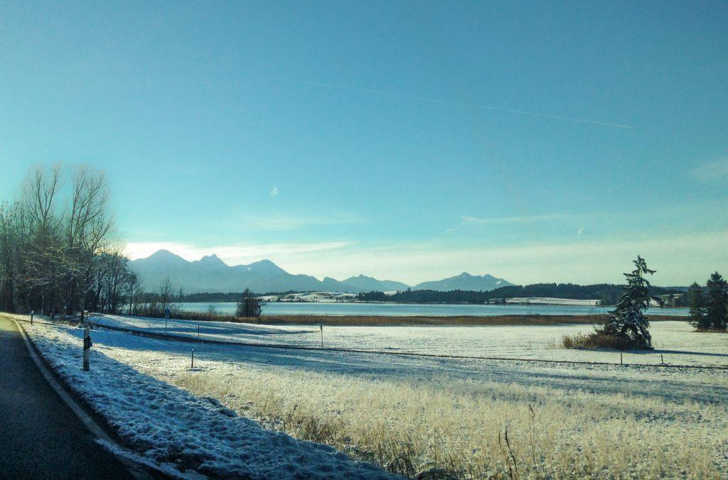 snowy fields in bavaria