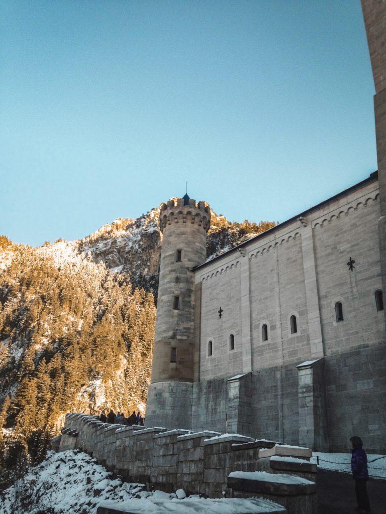looking towards the entrance of neuschwanstein