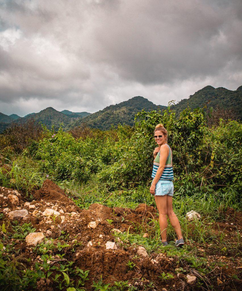 me hiking through the jungles