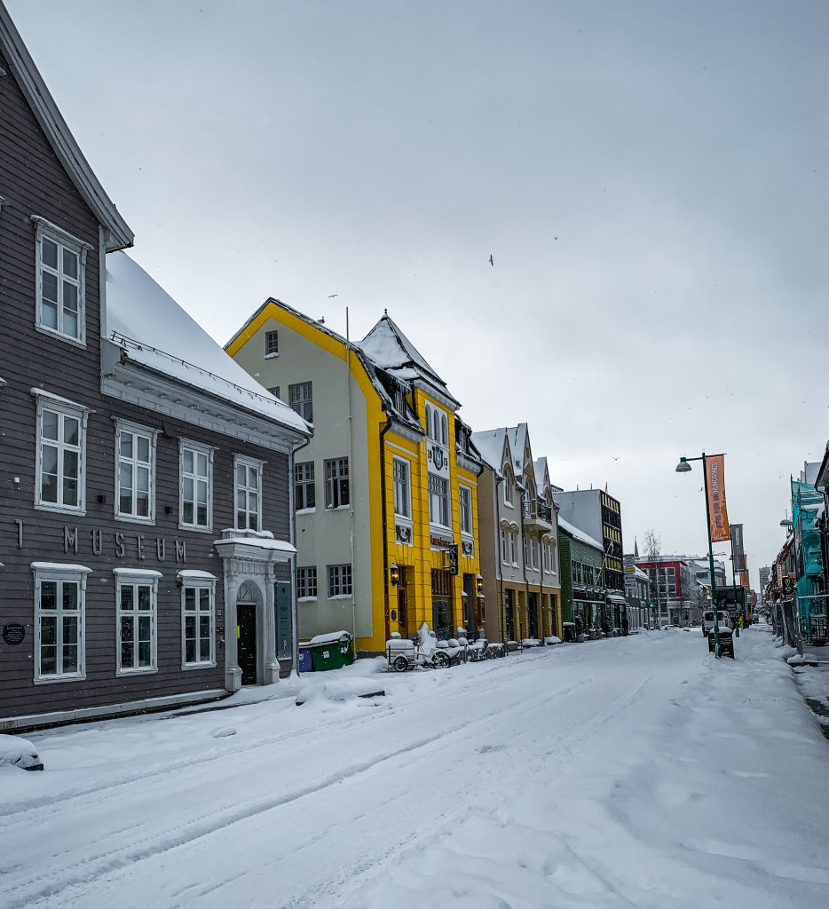 tromso city center with museum