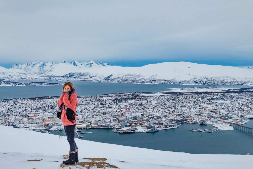 me at the top of tromso