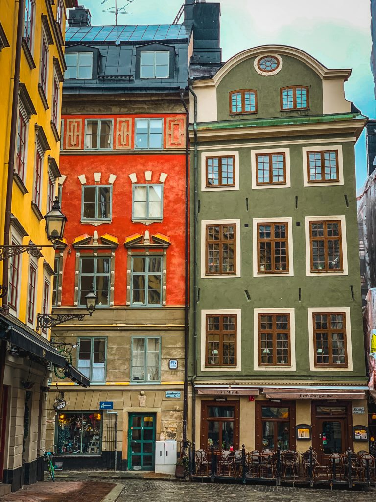 colorful buildings in stortorget