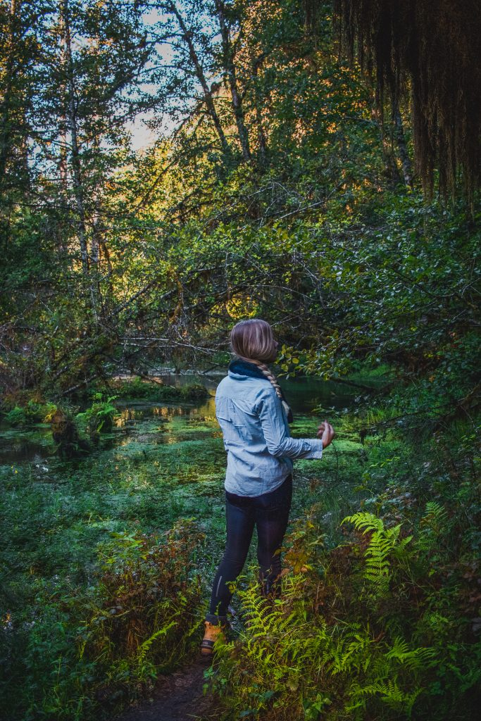 me in the hoh rainforest